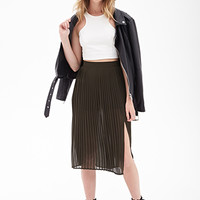 FOREVER 21 Pleated Chiffon Skirt