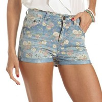 Ditsy Floral High Waisted Short: Charlotte Russe
