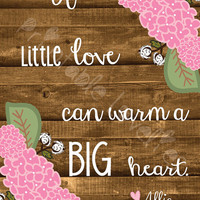 Big & Little Print; Personalized Greek Letters and Name; Customize Flower Colors; Wood Background; Sorority Sisters; 8x10 Print Digital DWLD