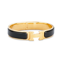 Enamel Jewelry Hermès Black|brown - H Bracelets - Jewelry | Hermès, Official Website
