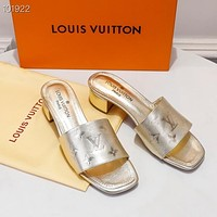 Louis Vuitton LV Fashion Trending Leather Women High Heels Shoes Women Sandals Heel shoes03