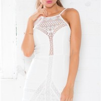 Lost In Her Eyes dress in white