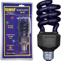 Damar 25 Watt Compact Fluorescent Black Light Twist Bulb