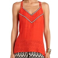 Embroidered Double-Strap Tank: Charlotte Russe
