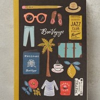 Rifle Paper Co. Travel Essentials Journal in Black Motif Size: One Size Books