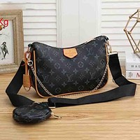 Louis Vuitton LV Fashion Presbyopia Two-Piece Set Trend All-match One-shoulder Messenger Bag