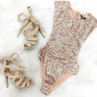Sequined Triangle Bodysuit Swimsuits B0015589