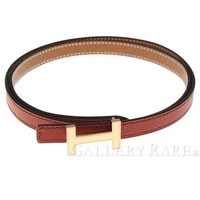 Gotopfashion HERMES Focus H Belt Lady's Size 75 Brique Epsom #R Reversible Authentic 4687191