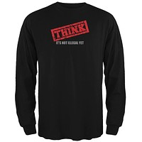 Thought Police Black Adult Long Sleeve T-Shirt
