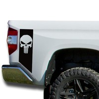 Bedside Patriotic Skull Decals Vinyl Sticker Decal: fits 2014-2018 Toyota Tundra