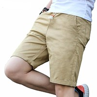 Summer Fashion Casual Shorts Solid color cotton High Quality beach