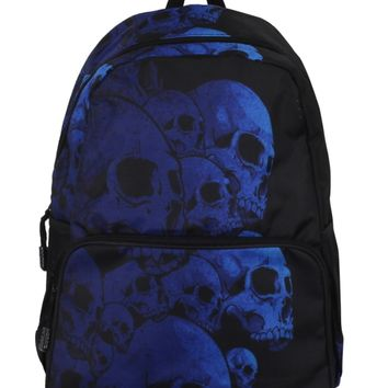 Banned Blue Skull Pile Backpack