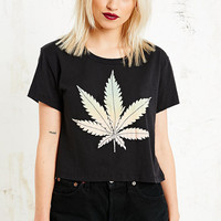 Truly Madly Deeply Weed Crop Top - Urban Outfitters