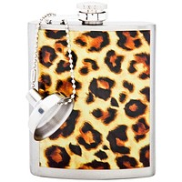 Leopard Print Stainless Steel Flask