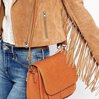 Marc B Jackie Saddle Bag with Buckle Detail