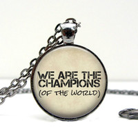 Freddie Mercury Necklace: We are the Champions