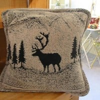 Black Forest Friends Rustic Lodge Mircroplush Pillow