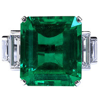 Rare 16.68 Carat Large Colombian Emerald Ring | 1stdibs.com