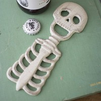 Skeleton Bottle Opener ~ Cast Iron