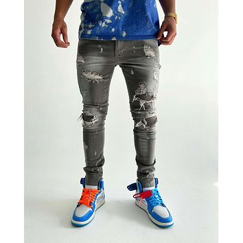 Marc A. Distressed Jeans (Cool Grey)