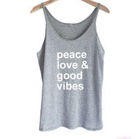 PEACE, LOVE & GOOD VIBES TANK