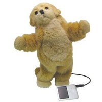 iPod and MP3 Player Golden Retriever Puppy Dancing Speaker