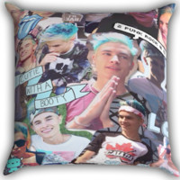Kian Lawley O2L Zippered Pillows  Covers 16x16, 18x18, 20x20 Inches