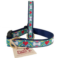 Pastel Bones and Hearts Dog Collar