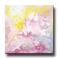 GICLEE PRINT Art Abstract Painting Pink White Modern Urban Contemporary Canvas Prints Grey Yellow