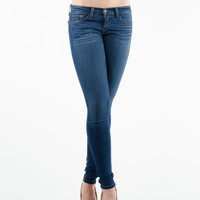 Medium Indigo Whiskered Skinny Jeans