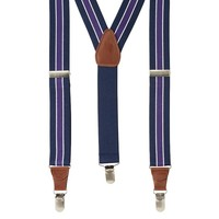 Wembley Wide-Striped Stretch Suspenders - Men, Size: One Size (Blue)