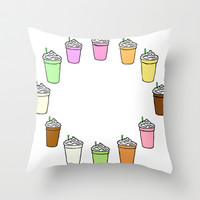 Frappuccinos Throw Pillow by hayimfabulous