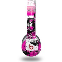 Pink Graffiti Decal Style Skin fits Beats Solo HD Headphones - (HEADPHONES NOT INCLUDED)