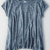 AEO Women's Dont Ask Why Keyhole T-shirt