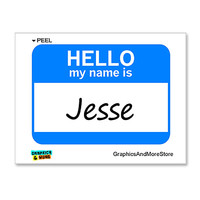 Jesse Hello My Name Is Sticker