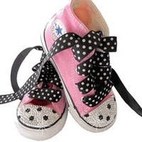 Baby Shoes - Trendy and Stylish Baby Shoes for Boys and Girls -Swarovski Polka Dot Converse Sneakers|LollipopMoon.com only $89.00 - Baby Shoes