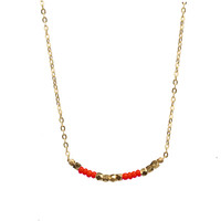 I Love You - Secret Code  Friendship Necklace 143 - Red