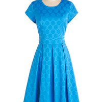 ModCloth Long Short Sleeves A-line Shine the Dotted Line Dress