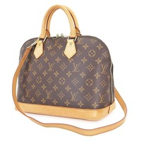Tagre™ Authentic LOUIS VUITTON Alma Monogram 2-Way Hand Shoulder Bag Purse #27168