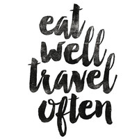 "Home and Living Wall Decor ""Eat Well Travel Often"" Home Decor Wall Hanging Typography Poster Housewares Art Digital Print"