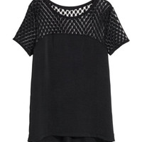 Top with Lace Yoke - from H&M