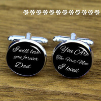 I will always love you dady cufflinks   ,babay for daddy gifts   cufflinks, , wedding cufflink,silver cufflinks,Men cufflinks