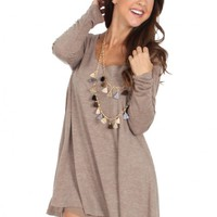 Pick Up The Pieces Dress in Mocha | Monday Dress Boutique