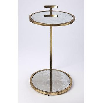 Butler Ciro Gold Metal & Mirror Side Table