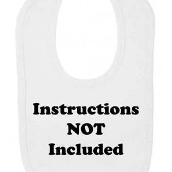 Instructions Not Included Funny New Baby Velcro Fastening Baby Bib
