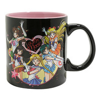 Sailor Moon Character Hearts Ceramic Mug