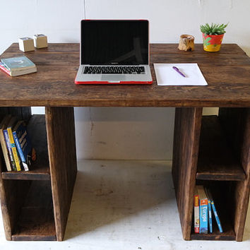 Rustic Study Desk made with reclaimed wood, any size, made to measure, free delivery, eco friendly