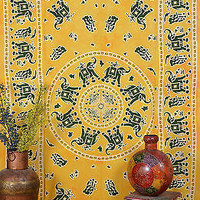 Elephant Yellow Dye Tapestry Indian Wall Hanging Tapestry Bohemian SBS041YL