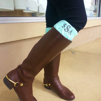 Monogrammed Boot Cuffs  Font Shown GREGORY