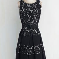 Mid-length Sleeveless A-line Lacy Sassy Cool Dress by ModCloth
